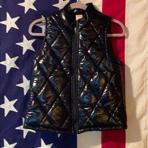 Girls Black Vest